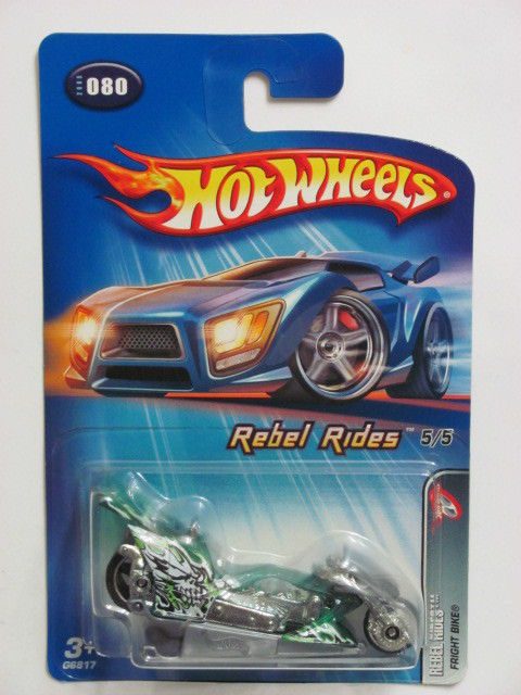 HOT WHEELS 2005 REBEL RIDES 5/5 FRIGHT BIKE #080