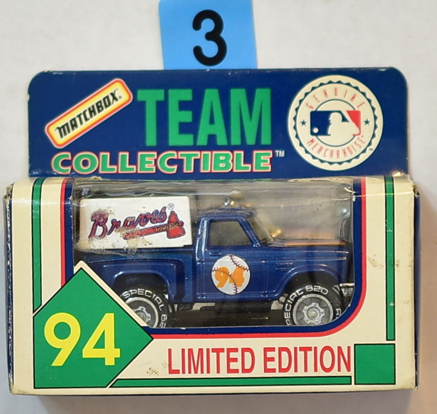 MATCHBOX 1994 TEAM COLLECTIBLE MLB ATLANTA BRAVES TRUCK
