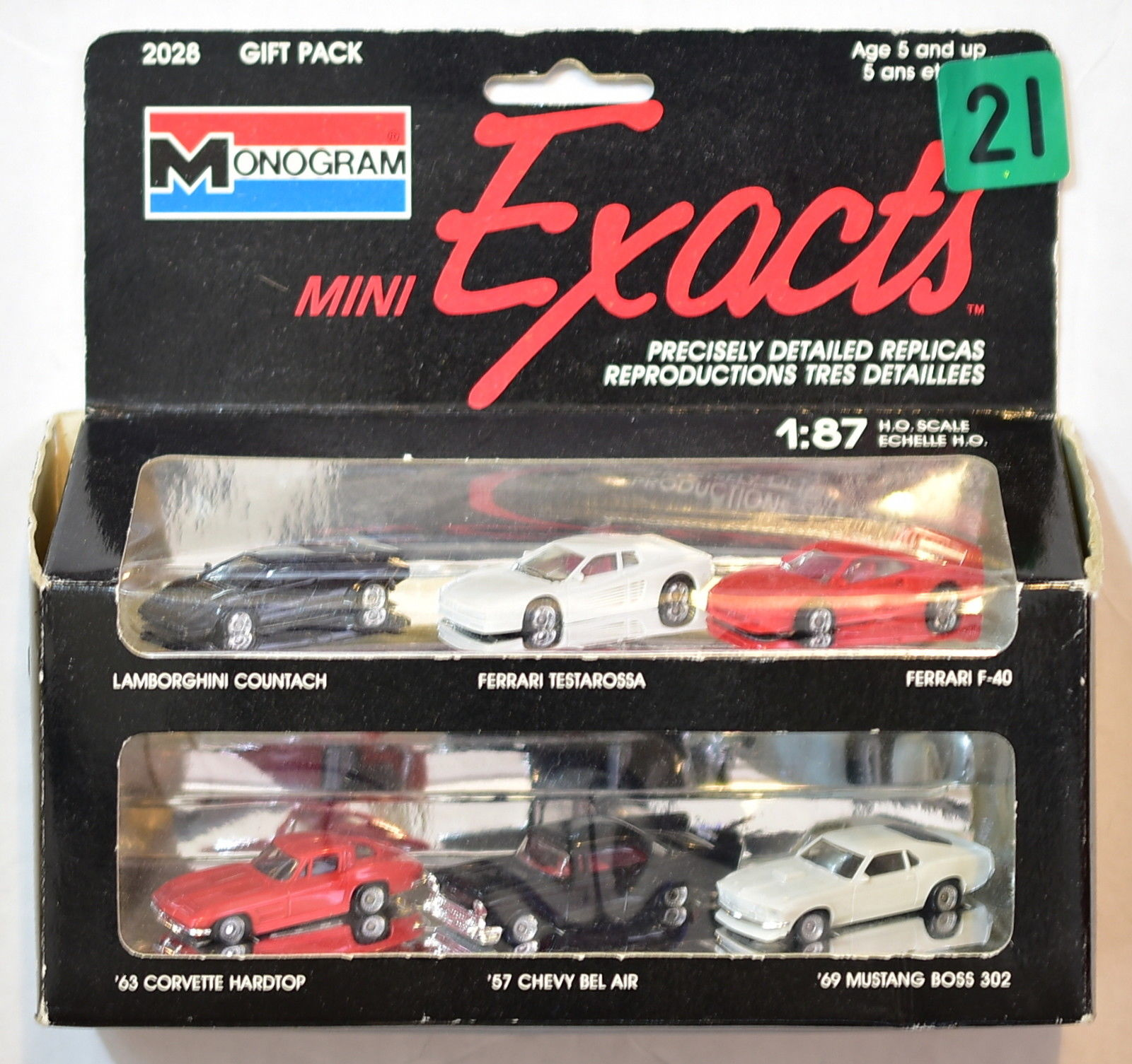 MONOGRAM MINI EXACTS 1:87 HO SCALE LAMBORGHINI FERRARI CHEVY MUSTANG CORVETTE