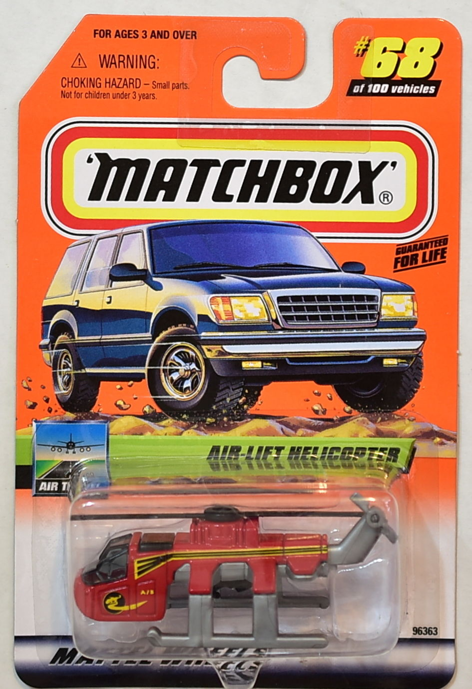 MATCHBOX 2000 #68 OF 100 AIR-LIFT HELICOPTER AIR TRAVEL