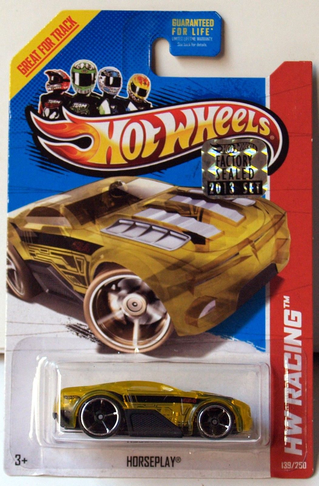 HOT WHEELS 2013 HW RACING HORSEPLAY YELLOW FACTORY SEALED
