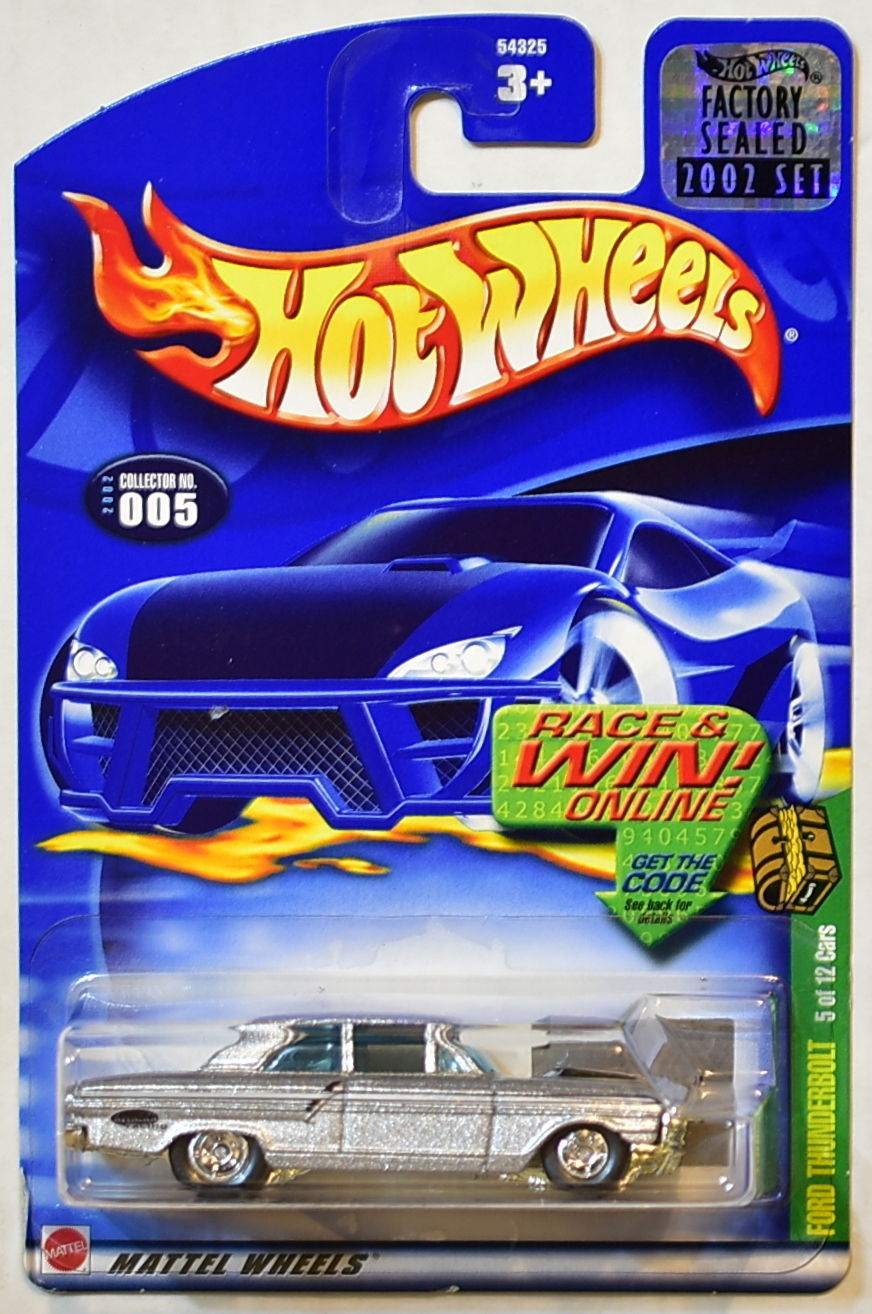 HOT WHEELS 2002 TREASURE HUNT FORD THUNDERBOLT #005 FACTORY SEALED