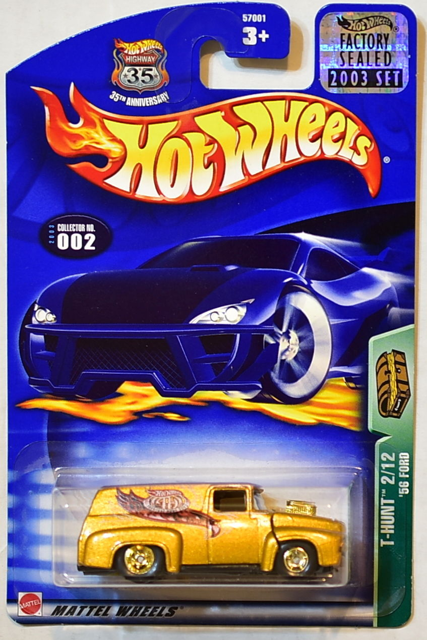 HOT WHEELS 2003 TREASURE HUNT '56 FORD #002 FACTORY SEALED