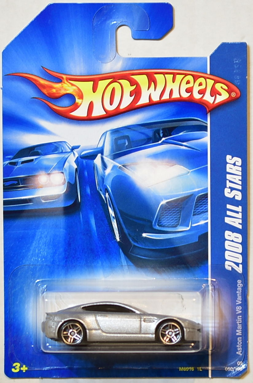 HOT WHEELS 2008 ALL STARS ASTON MARTIN V8 VANTAGE SILVER