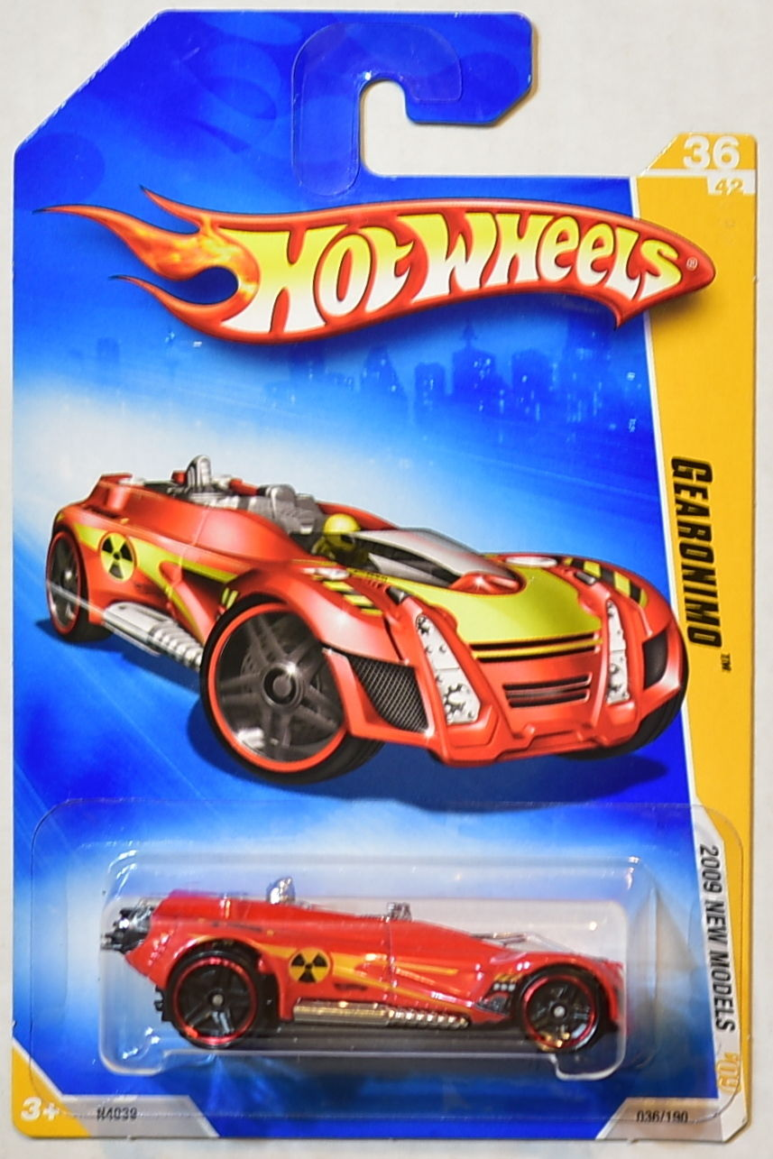 HOT WHEELS 2009 NEW MODELS GEARONIMO RED