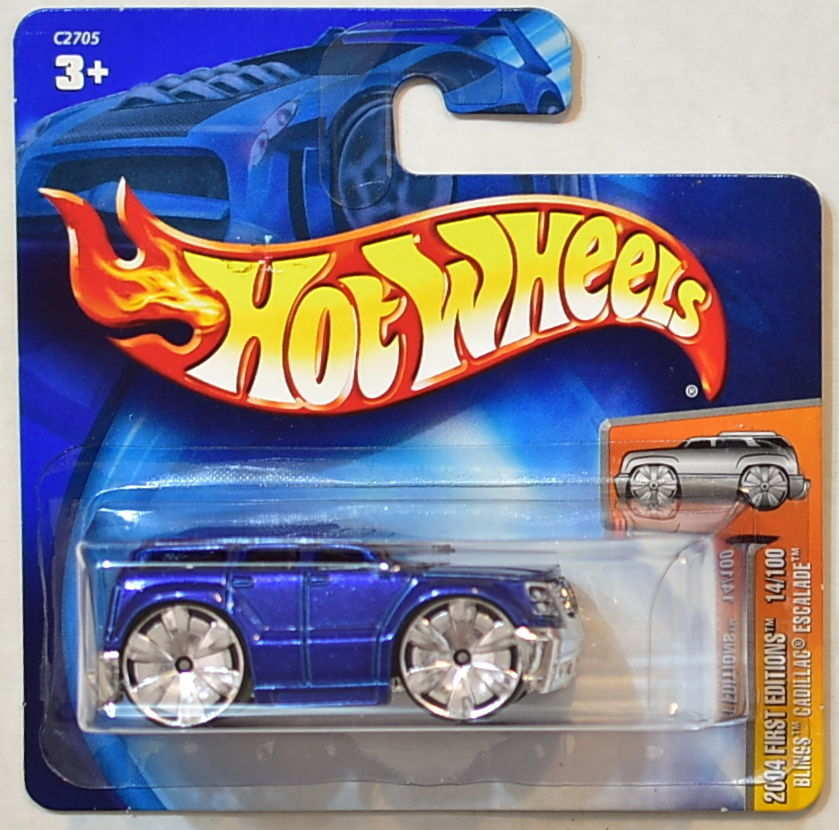 HOT WHEELS 2004 FIRST EDITIONS BLINGS CADILLAC ESCALADE SHORT CARD
