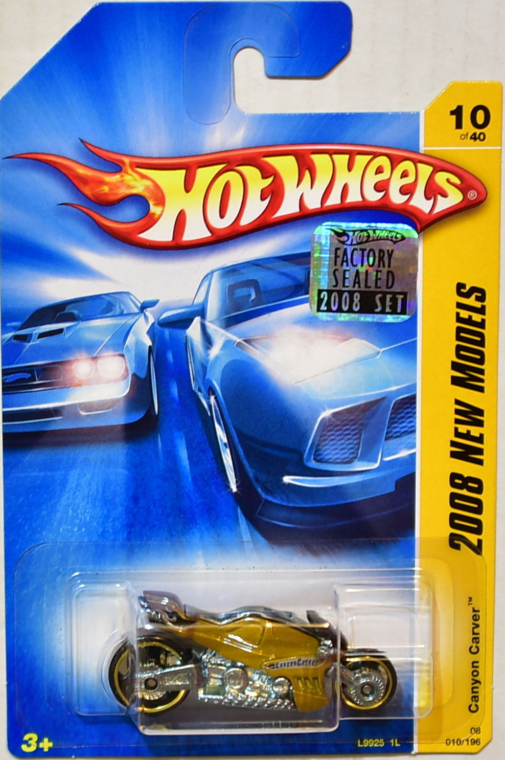 HOT WHEELS 2008 NEW MODELS CANYON CARVER GOLD FACTORY SEALED