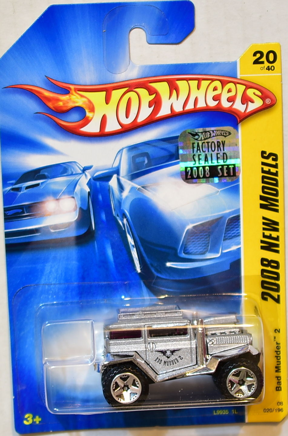 HOT WHEELS 2008 NEW MODELS BAD MUDDER 2 #20/40 SILVER FACTORY SEALED
