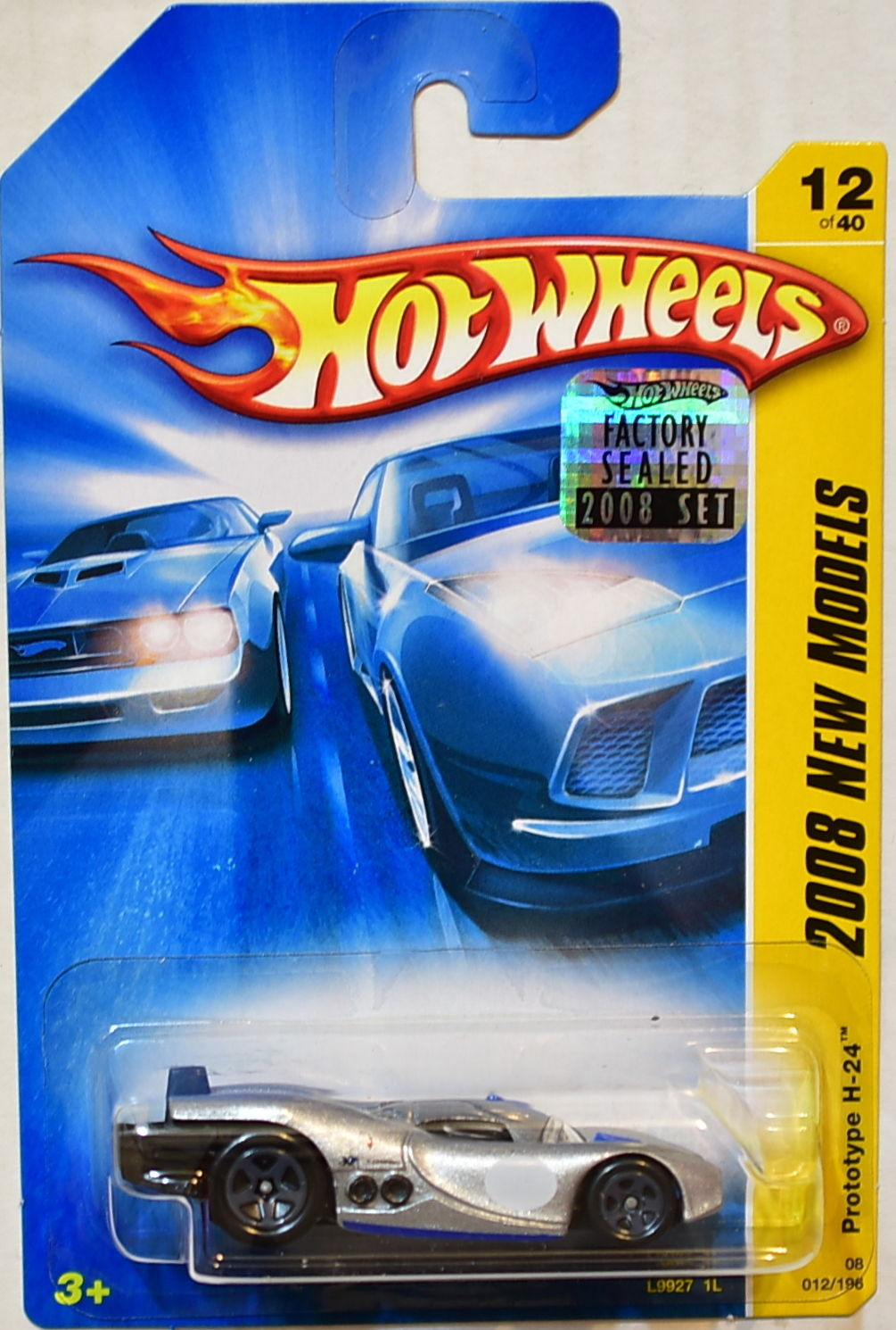 HOT WHEELS 2008 NEW MODELS PROTOTYPE H-24 #12/40 SILVER FACTORY SEALED