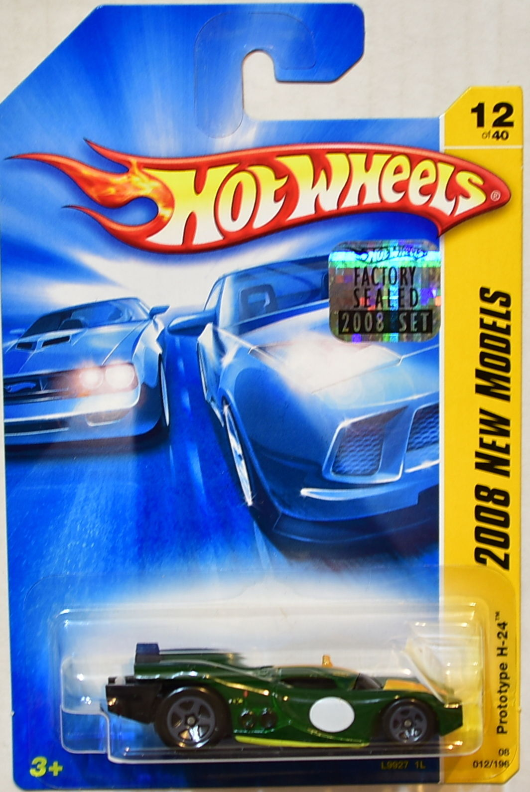 HOT WHEELS 2008 NEW MODELS PROTOTYPE H-24 #12/40 GREEN FACTORY SEALED