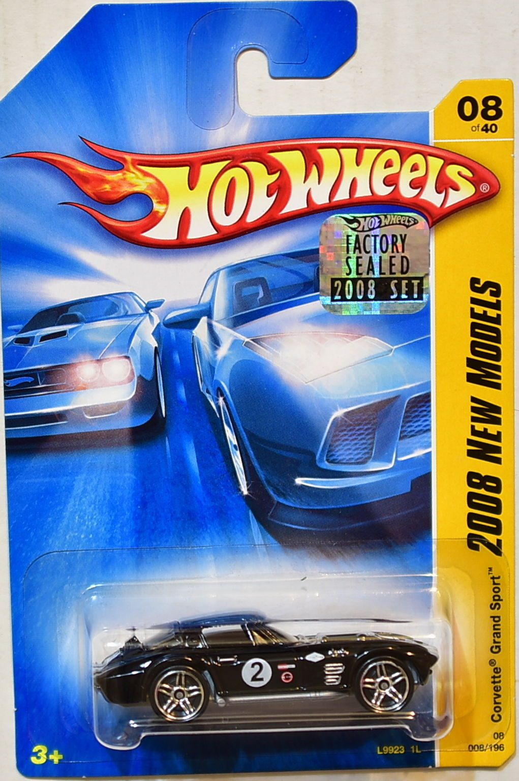 HOT WHEELS 2008 NEW MODELS CORVETTE GRAND SPORT #08/40 BLACK FACTORY SEALED