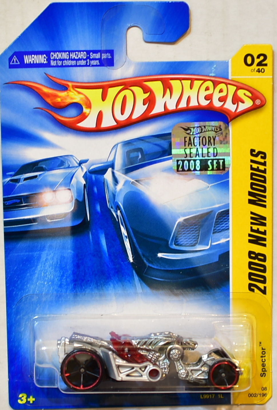 HOT WHEELS 2008 NEW MODELS SPECTOR #02/40 FACTORY SEALED