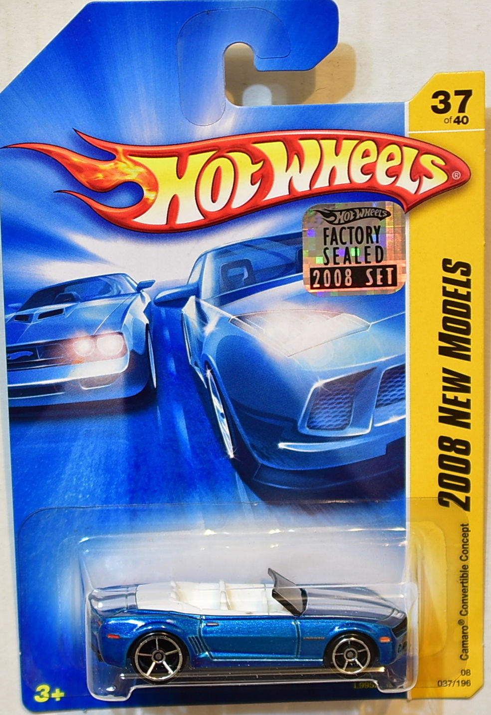 HOT WHEELS 2008 NEW MODELS CAMARO CONVERTIBLE CONCEPT #37/40 BLUE FACTORY SEALED