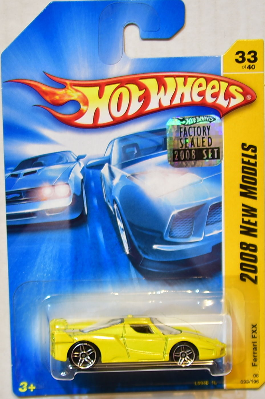 HOT WHEELS 2008 NEW MODELS FERRARI FXX #33/40 YELLOW FACTORY SEALED
