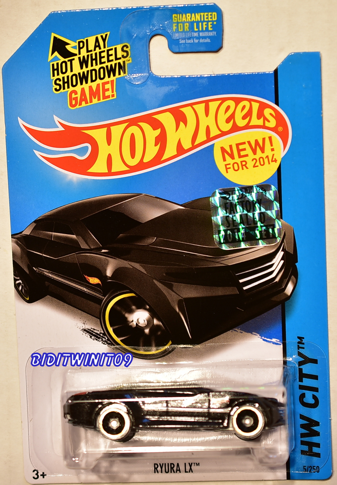HOT WHEELS 2014 HW CITY RYURA LX FACTORY SEALED BLACK