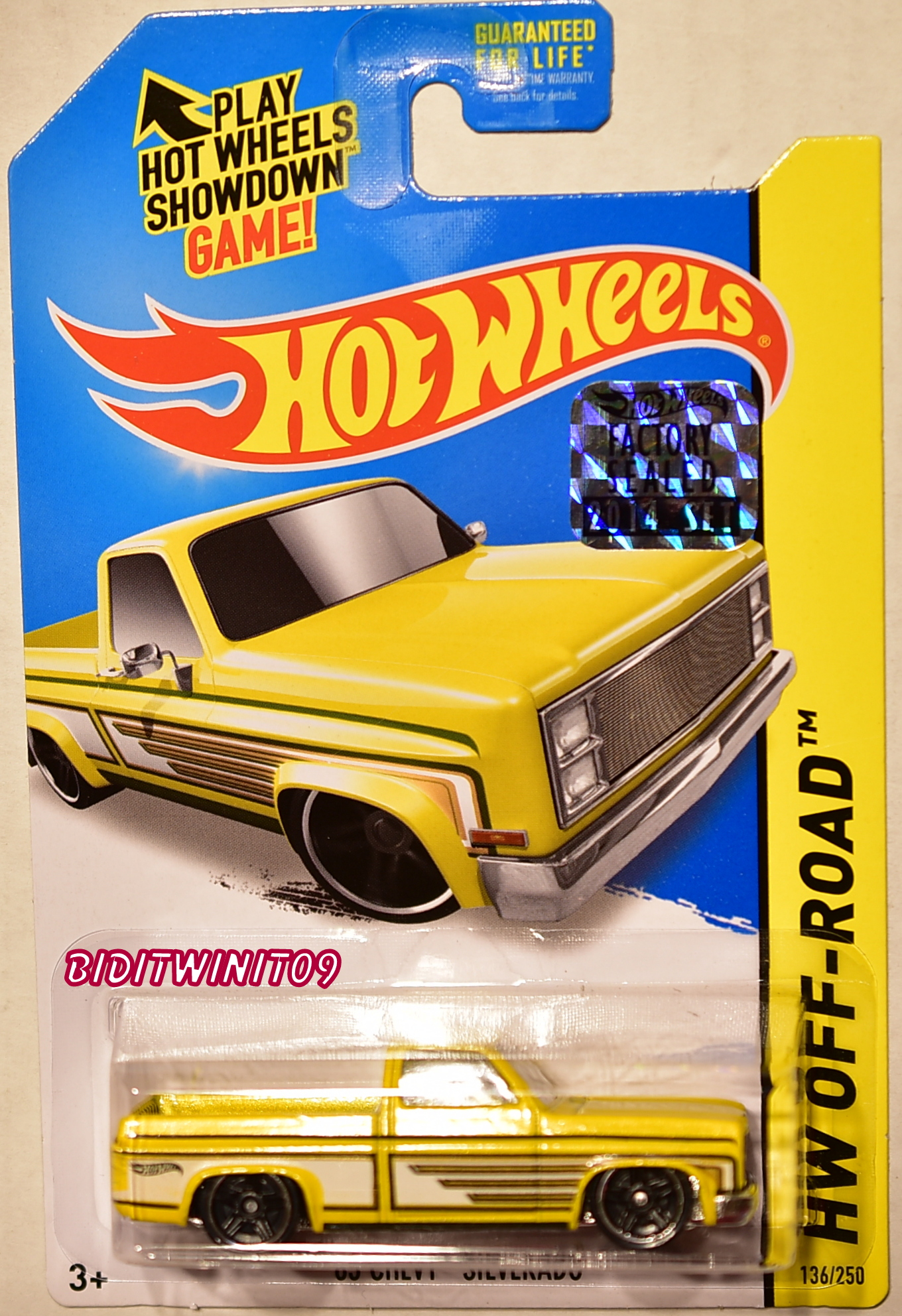 HOT WHEELS 2014 HW OFF-ROAD '83 CHEVY SILVERADO YELLOW FACTORY SEALED