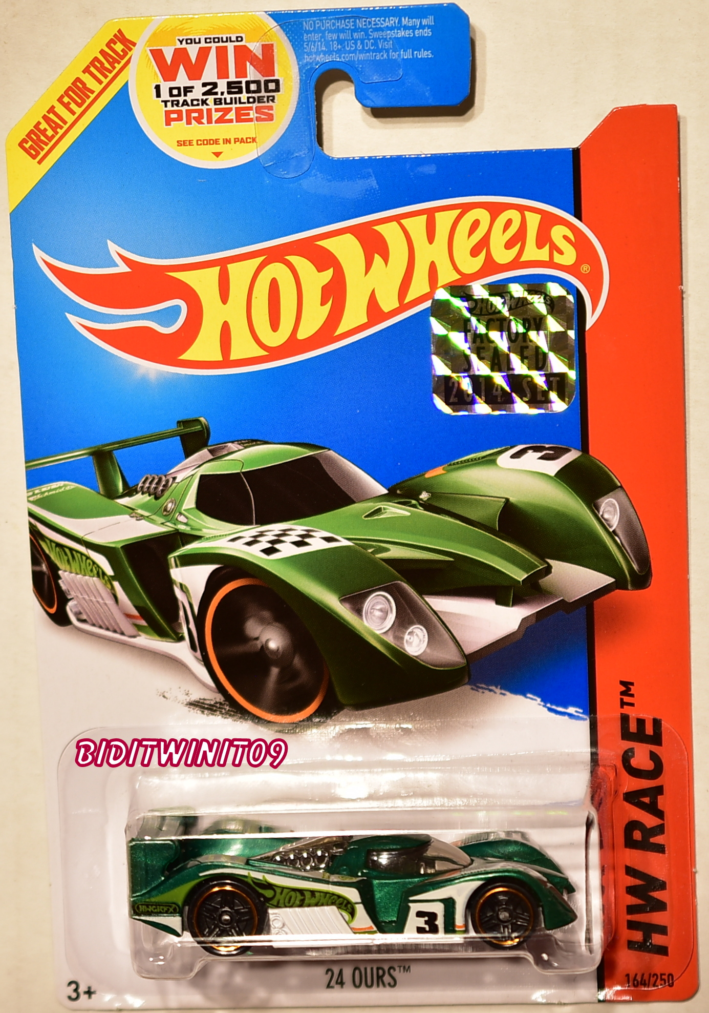 HOT WHEELS 2014 HW RACE 24 OURS FACTORY SEALED GREEN