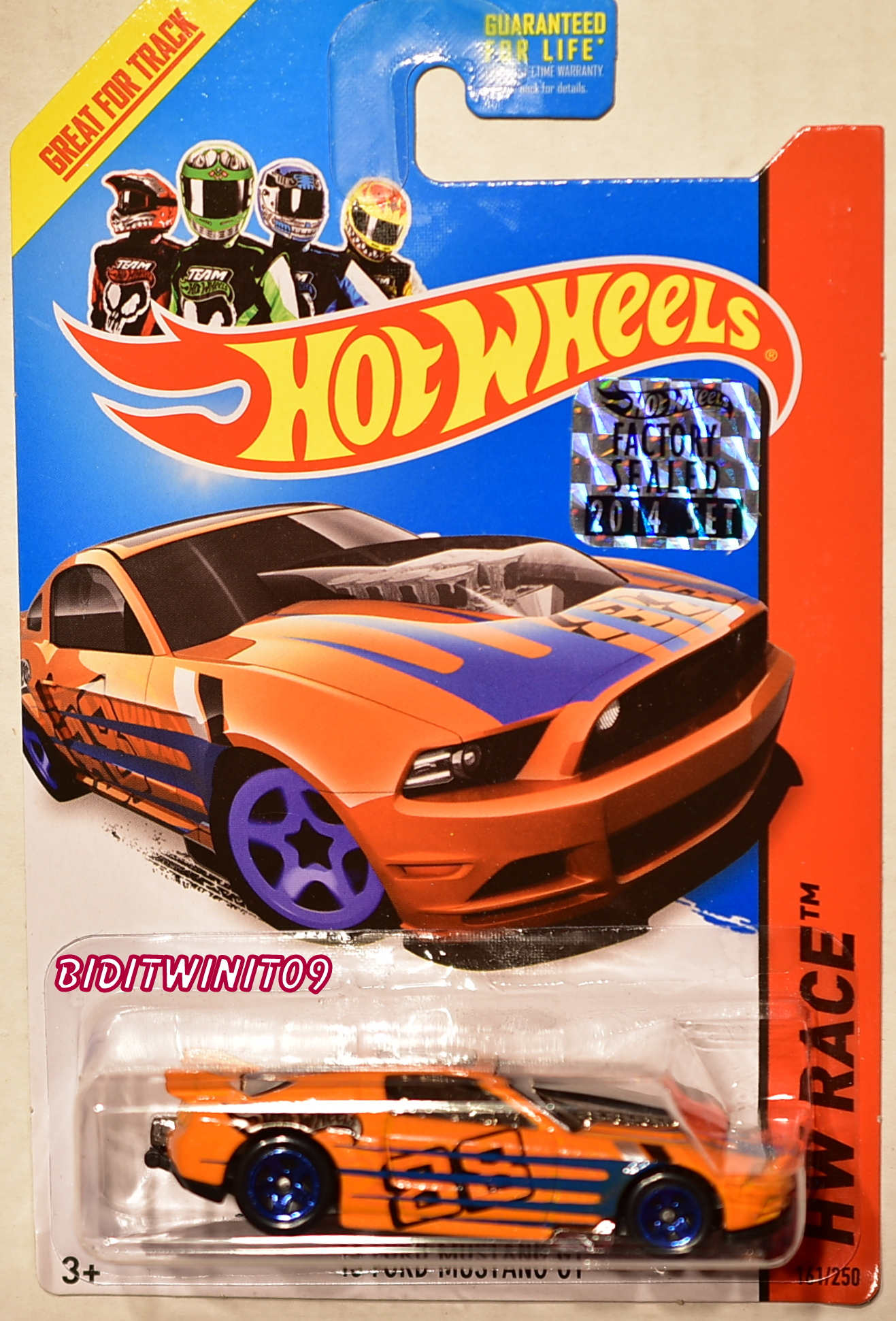 HOT WHEELS 2014 HW RACE '13 FORD MUSTANG GT ORANGE FACTORY SEALED
