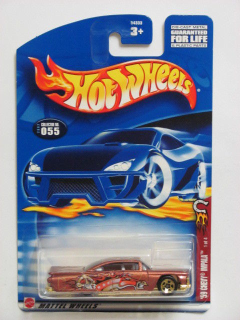 HOT WHEELS 2002 '59 CHEVY IMPALA #055 BROWN