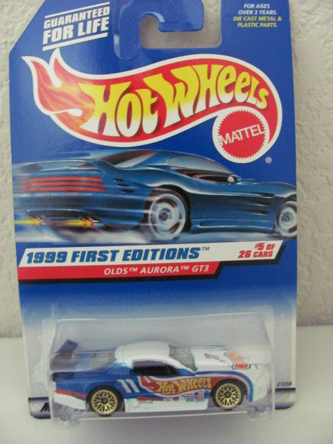 HOT WHEELS 1999 FIRST EDITIONS OLDS AURORA GT3 #5 OF 26 WHITE