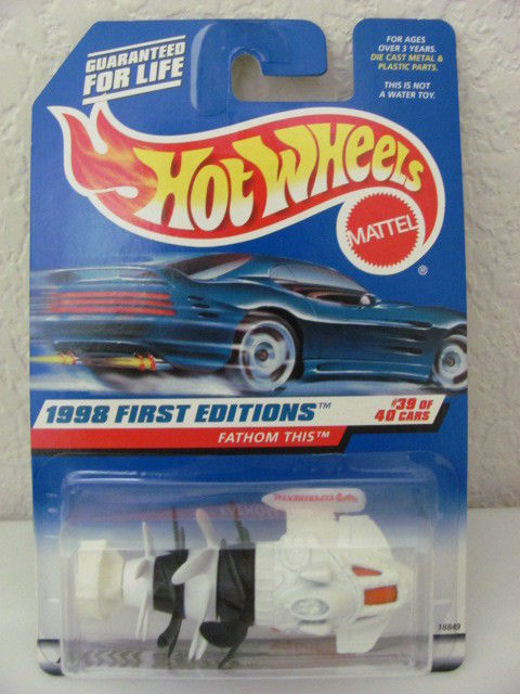HOT WHEELS 1998 #39/40 FATHOM THIS FIRST EDITIONS