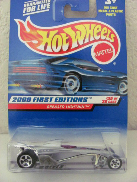 HOT WHEELS 2000 FIRST EDITIONS GREASED LIGHTNIN #35/36