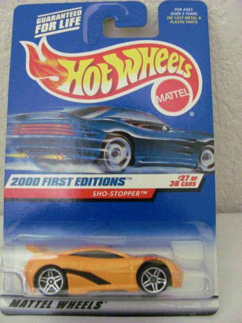 HOT WHEELS 2000 FIRST EDITIONS SHO-STOPER #27/36 YELLOW