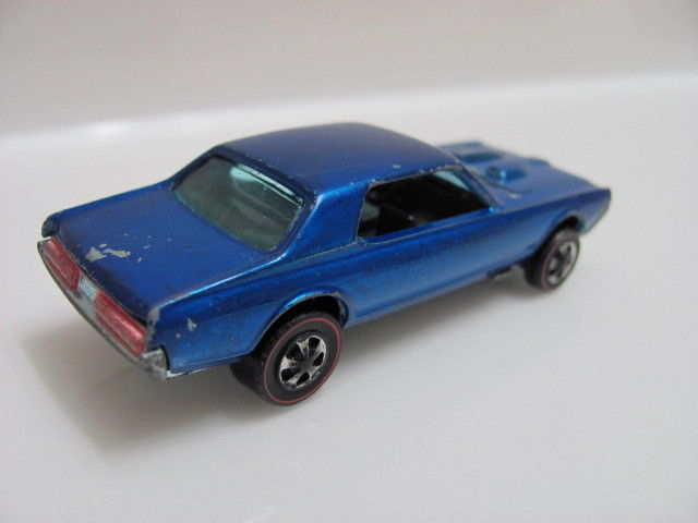 HOT WHEELS 1967 REDLINE CUSTOM COUGAR BLUE ORIGINAL HK
