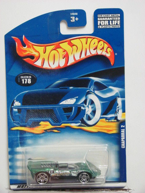 HOT WHEELS 2001 #178 CHAPARRAL 2 CONVERTIBLE GREEN