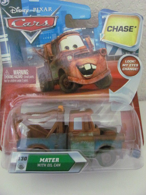 DISNEY PIXAR CARS #130 MATER W/ OIL CAN CHASE!!!