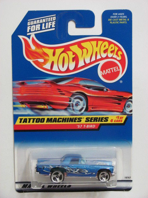 HOT WHEELS 1998 TATOO MACHINE SERIES #01/04 '57 T-BIRD