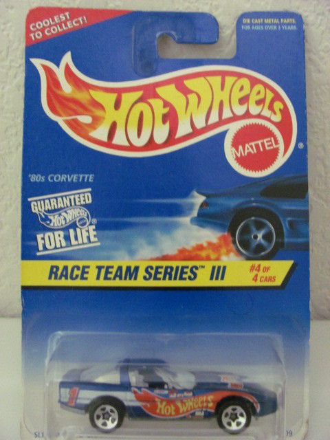 HOT WHEELS 1996 #536 '80S CORVETTE RACE TEAM SERIES III