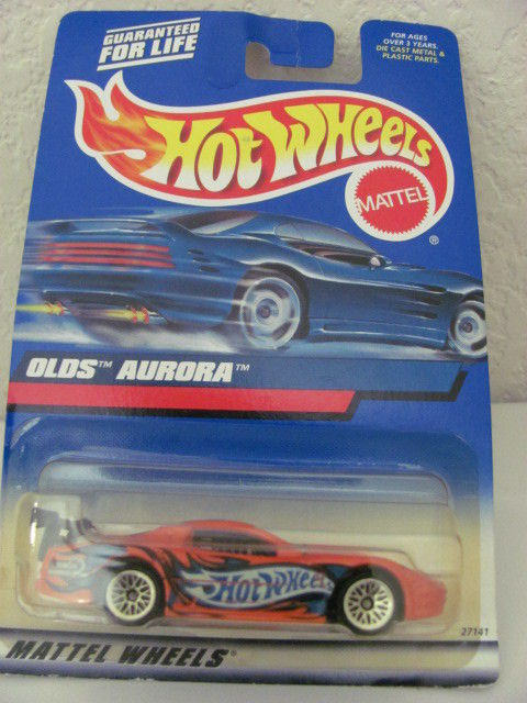 HOT WHEELS 2000 OLDS AURORA # 175 ORANGE MIB