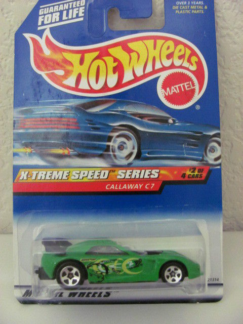 HOT WHEELS 1999 X-TREME SPEED SERIES CALLAWAY C7 #3/4 GREEN