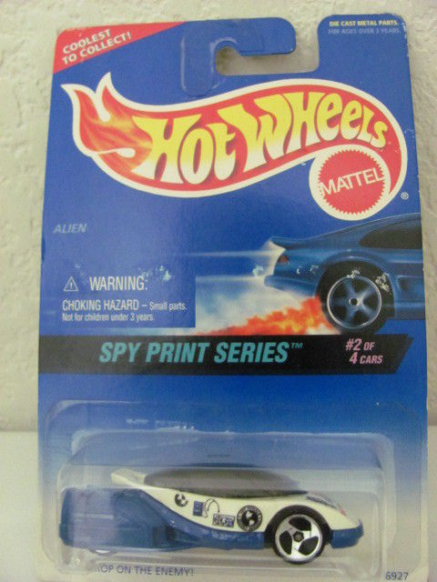 HOT WHEELS 1996 SPY PRINT SERIES ALIEN #2/4