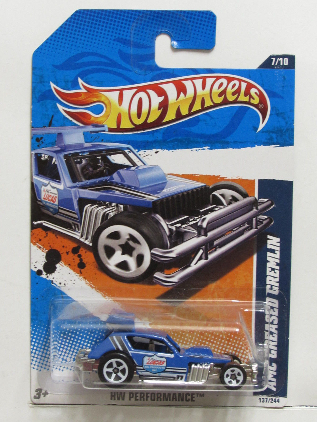 HOT WHEELS 2011 #07/10 AMC GREASED GREMLIN HW PERFORMANCE