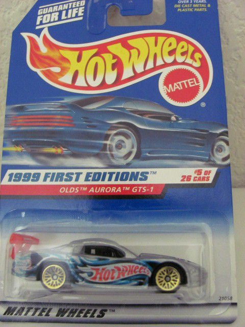 HOT WHEELS 1999 FIRST EDITIONS OLDS AURORA GTS-1 #5/26 SILVER