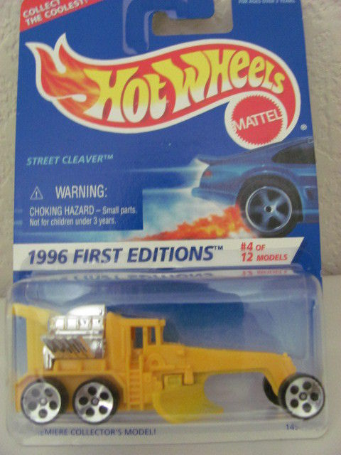 HOT WHEELS 1996 FIRST EDITIONS STREET CLEAVER W/ CHROME ENGINE #373