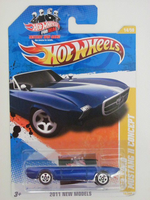HOT WHEELS 2011 1/50 NEW MODELS 69 FORD MUSTANG CONCEPT
