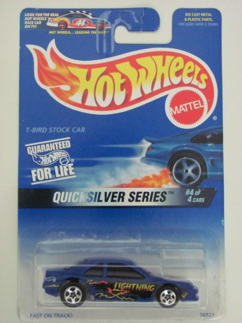 HOT WHEELS 1997 QUICKSILVER SERIES T-BIRD STOCK CAR MIB