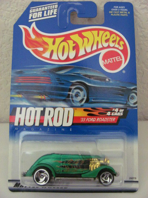 HOT WHEELS 2000 HOT ROD MAGAZINE '33 FORD ROADSTER #008