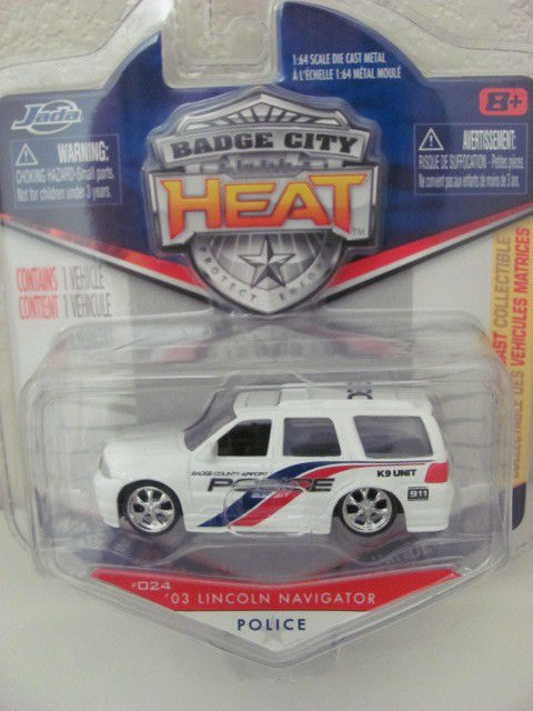 Jada Badge City Heat 024 03 Lincoln Navigator Police 180641153124