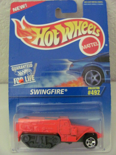 HOT WHEELS 1996 SWINGFIRE #492 ORANGE