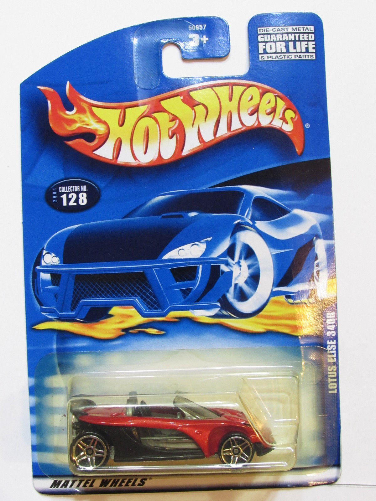 HOT WHEELS 2001 LOTUS ELISE 340R CLLECTOR #128 RED