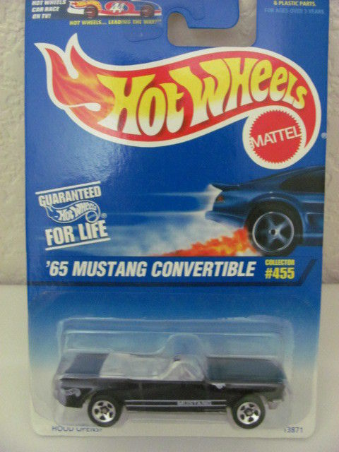 HOT WHEELS 1997 #455 '65 MUSTANG CONVERTIBLE 5 SPKS