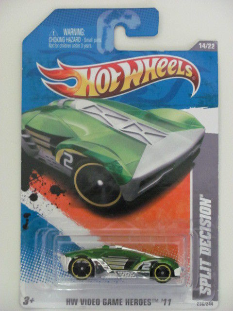HOT WHEELS 2011 #14/22 SPLIT DECISION HW VIDEO GAME GRE