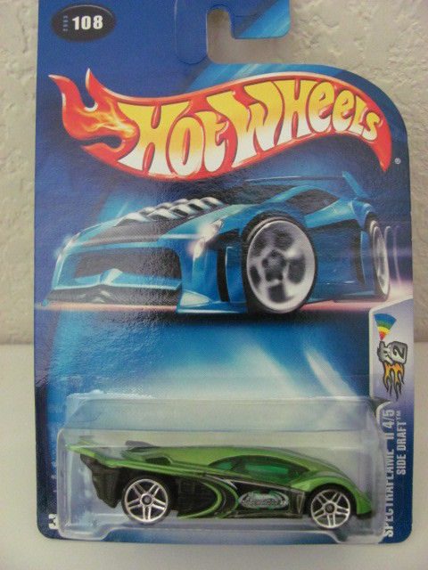HOT WHEELS 2003 SPECTRAFLAME II 4/5 - SIDE DRAFT GREEN