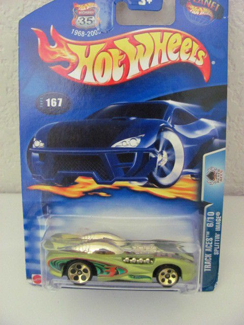 HOT WHEELS 2003 TRACK ACES 06/10 SPLITTIN' IMAGE GREEN