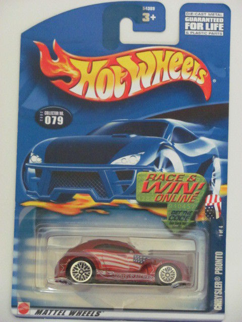 HOT WHEELS 2002 CHRYSLER PRONTO 1 OF 4 COLL. 079 RED