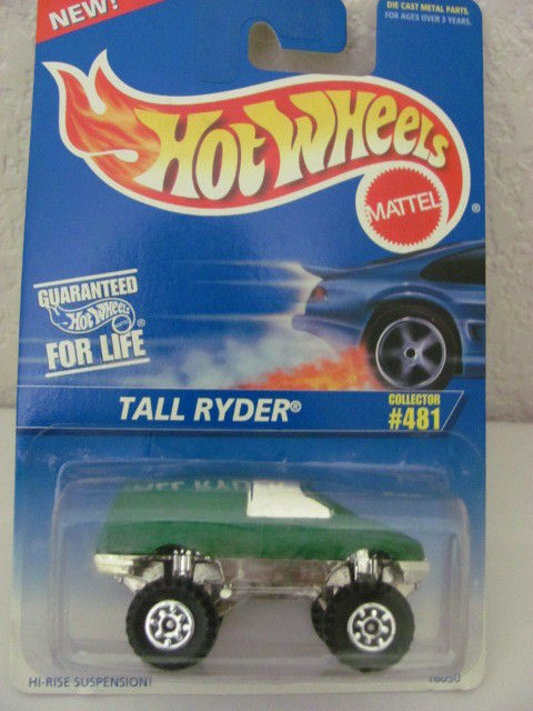 HOT WHEELS 1996 COLL. #481 TALL RYDER GREEN!!!